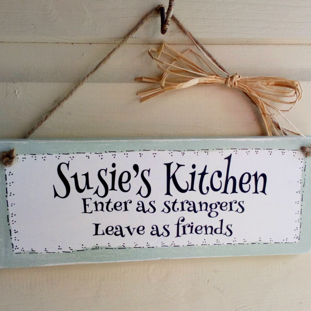 A Handmade Personalised Kitchen Plaque/Sign
